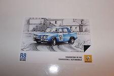 CP POSTCARD CARTOLINA RENAULT 8 GORDINI RAGNOTTI RALLY RALLYE WRC