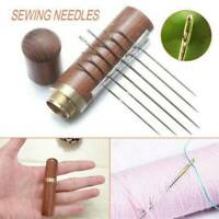 24Pcs Assorted Size SELF THREADING Hand Sewing NEEDLES Easy Thread With Holder