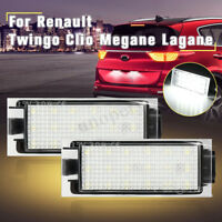 2x 18 LED Number License Plate Lights For Renault Megane Clio Lagane CE 12V