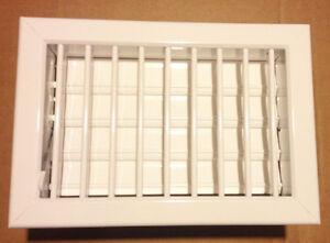 Bocchetta ventilazione camini alluminio bianco  LA VENTILAZIONE cm 15x22 imb.12