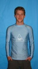 MENS BLUE LYCRA SHIRT USED FOR BICYCLING SURFING SNORKELING DIVING SIZE 2X