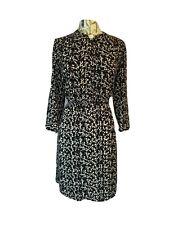 H&M Shirt dress Sz 16 Black Blue New With Tags RRP £25 Knee Length Long Sleeve