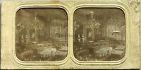 Hotel Da La Ville De Paris Salon Foto Stereo Vintage Diorama Tessuto