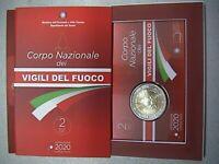 ITALIA 2020 moneta 2 EURO COMMEMORATIVO VIGILI DEL FUOCO  FDC in coincard