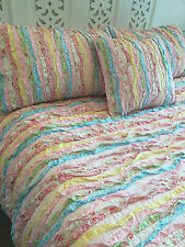 3 pce Linens n Things Millie Queen Bed Shabby Chic Bedspread / Coverlet Set $309
