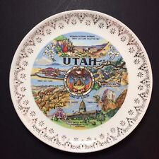 Vintage Utah The Land of Color Decorative Collectible Souvenir Plate 7 3/8""