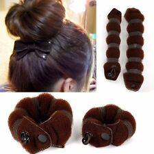 2Pcs/set Women Girls DIY Hair Styling Donut Former Foam French Twist Magic Tool