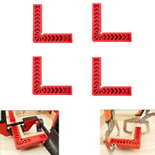 90 Degree L Shape Square Right Angle Clamp Corner Clamping Ruler Fixture Set 4Pc