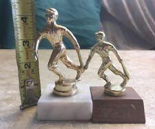 Vintage Baseball Trophy Topper Lot Of 2 Male Batter Metal