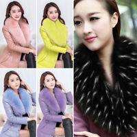 Women Ladies Men Winter Fluffy Faux Fur Collar Scarf Shawl Wrap Cape Stole UK
