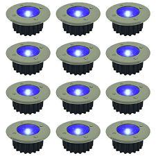Paquete De 6 Azul LED Energía solar Terraza Jardín Patio Entrada Cubierta Luces