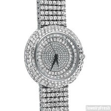 Iced Out Silver Ice Orbit Baguette Stones Bling Watch