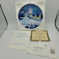 Bradford Exchange Disney Treasured Moments Cinderella Plate #1 With COA