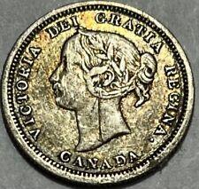 CANADA - Queen Victoria - 5 Cents - 1870 - Km-2 - VF Details - Scratch