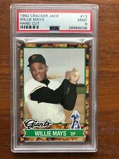 1982 Cracker Jack Baseball Card #13 Willie Mays San Francisco Giants PSA 9 Mint