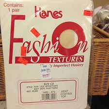 Vintage Hanes fashion textures sheer pantyhose size Cd