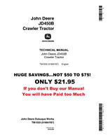 NOW ON SALE! JOHN DEERE 450 Crawler Loader Technical Service Shop Manual TM-1033