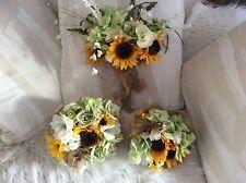 wedding flowers bouquet bridal flower package sunflowers