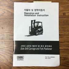 Clark Side Shift Carriage Operation Manual Amp Installation Guide Forklift Truck