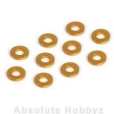 XRAY T2 Aluminum Shim 3x6x1.0mm Orange (10) - XRA303122-O