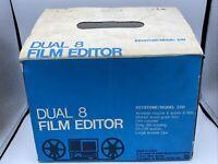 Keystone Model 250 Dual 8 Film Editor Original Box Tested Works Good Light Used