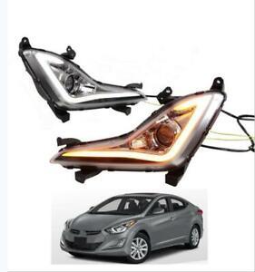 Fog Lamp Fit For Hyundai Elantra 2014 -2016 LED DRL Daytime Running Light 2PCS