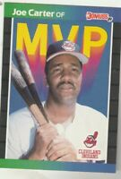 FREE SHIPPING-MINT-1989 Donruss MVP #BC-3 Joe Carter  Indians PLUS BONUS CARDS