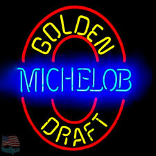 "Michelob Golden Draft Blue Neon Sign 20""x16"" From USA"