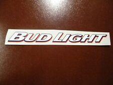 BUDWEISER Bud Light white font CLEAR STICKER decal craft beer brewing