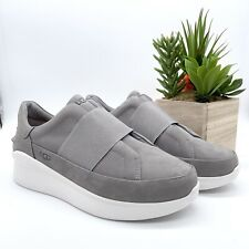 UGG Women's Platform Libu Soft Amethyst Suede Gray Slip On Sneakers Size 9.5