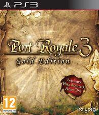 PS3 JEU PORT ROYALE 3 édition gold basispiel + extension Treasure Island