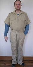 Vintage WALL'S Khaki Cotton Blend Jumpsuit Coveralls Work Utility Suit 42 Tall