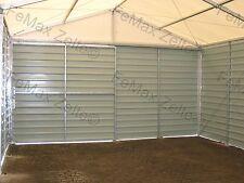 Lagerhalle Lagerzelt Kleinlager Trapezblechhalle 6x12m / weiß-grau