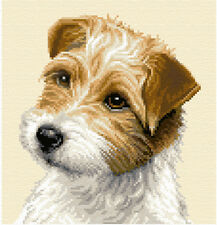 JACK RUSSELL TERRIER dog, Complete cross stitch kit