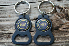 NEW LOT OF 5 MILWAUKEE BREWING COMPANY MKE KEYCHAINS BEER BOTTLE OPENERS