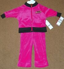 NWT 2-Pc Girls ECKO RED Outfit WARM UPS Pants Top 6 Months Pink Fuchsia RTL48.00