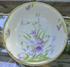 Beautiful Vintage Bavarian Bowl Hand Painted and Signed By Artist