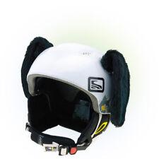 Stick-on ears for skiing helmet - Black Dog - ski bike Decoration Cover Cool Ear