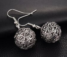 NEW Earrings Drops Silver Moroccan Ethnic Boho Tribal Turkish Afghan Kuchi GIFT