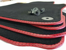 Rot Fußmatten Audi A5 Sportback S-Line Original Doppelnaht Rot Premium Velours