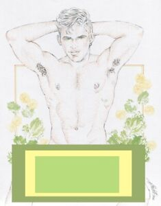 """Adult Male Nude Gay Interest """"Vintage"""" Original, NOT a copy by Mario Bieletto"""