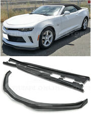 EOS T6 Style CARBON FIBER Front Lip End Caps W/ Side Skirts For 16-18 Camaro RS