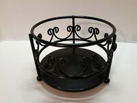 WROUGHT IRON METAL GARDEN FLOWER POT PLANTER BOWL STAND ~ DECORATIVE ~ PRE-OWNED