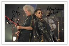 ADAM LAMBERT & BRIAN MAY SIGNED PHOTO PRINT AUTOGRAPH QUEEN