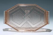 Art Deco Pressglass Tablett 1930er Jahre       #p1272.