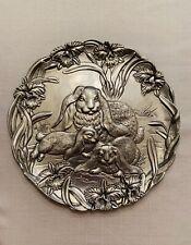 Adorable Arthur Court vintage decorative-1994-platter. Mother Bunny and babies!