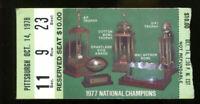 1978 Notre Dame vs Pittsburgh college football ticket stub Joe Montana comeback