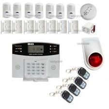 LCD Security Wireless GSM Autodial Home House Office Burglar Intruder Fire Alarm