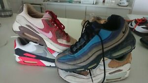 nike air max 90 and 95 lot stash bacon infrared crepe supreme jordan 9,9.5,10