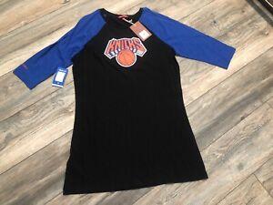 Nwt's New York Knicks Mitchell & Ness Raglan Night T-Shirt Women's Medium